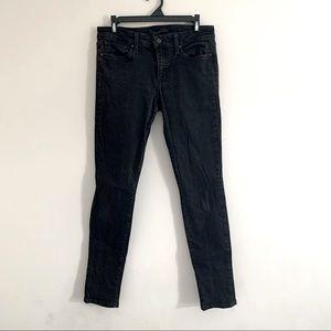 Joe's jeans black denim skinny jeans mid rise